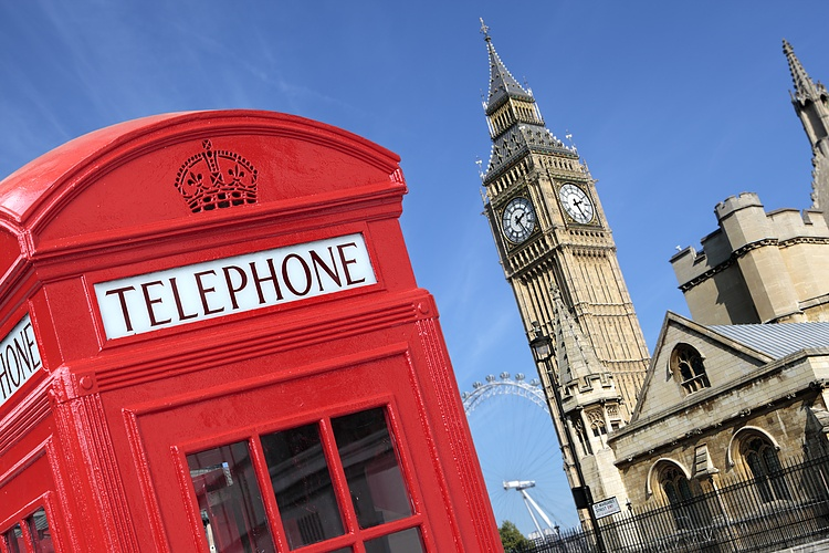 telephone box with big ben 19115351 Large - اقتصاد المملكة المتحدة يتباطأ إلى نمو 1٪ في الناتج المحلي الإجمالي هذا العام