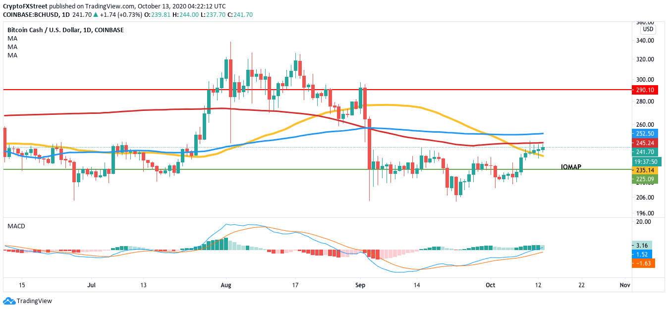 BCH/USD daily chart